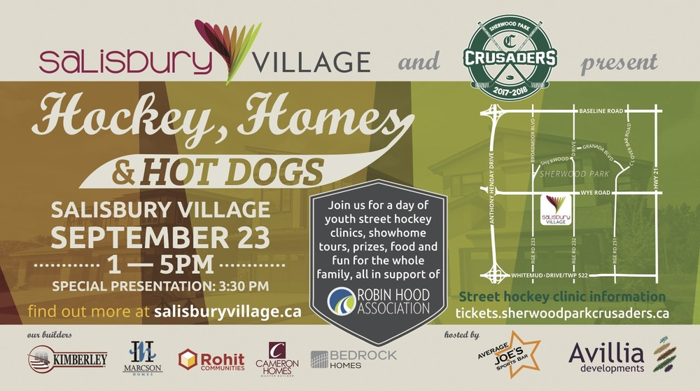 Join Bedrock Homes for Hockey, Homes and Hot Dogs Saturday, Sept 23rd from 1 to 5pm!